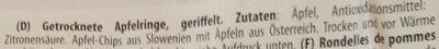 Apfel Chips - Ingrédients - de