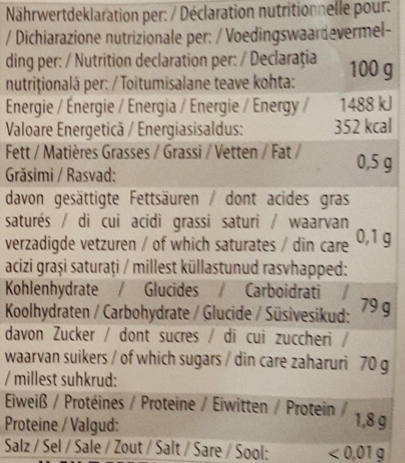 Apfel Chips - Informations nutritionnelles - de
