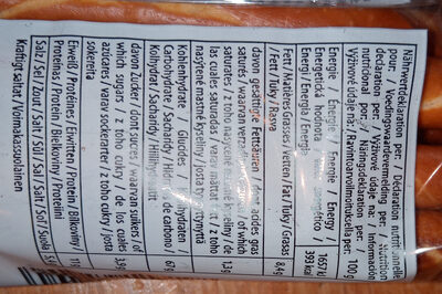 Laugenstangen Salz - Nutrition facts - de