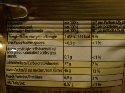 Baroko goldbaren - Výživové údaje - cs