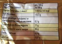 HARIBO goldbären - Informations nutritionnelles - fr