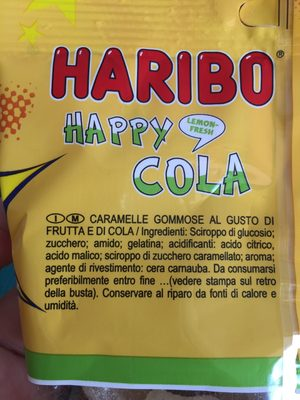 Happy-Cola - Ingrédients - fr
