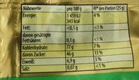 Haribo saure Goldbären - Valori nutrizionali - fr