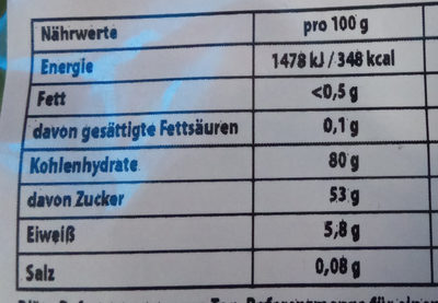 Fruchtgummi - Nutrition facts - de