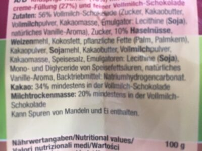 Haselnussecken Minis - Ingredients - fr