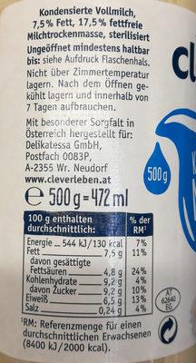 Kondensmilch - Ingrédients - de