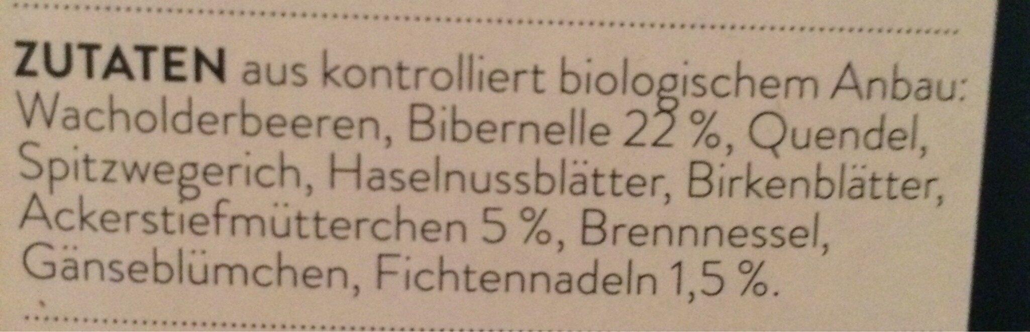 Wild Sein Bio Kräuter-Gewürztee - Ingredienti - fr