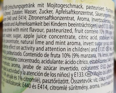 Mojito non alcoholic - Ingrédients - de