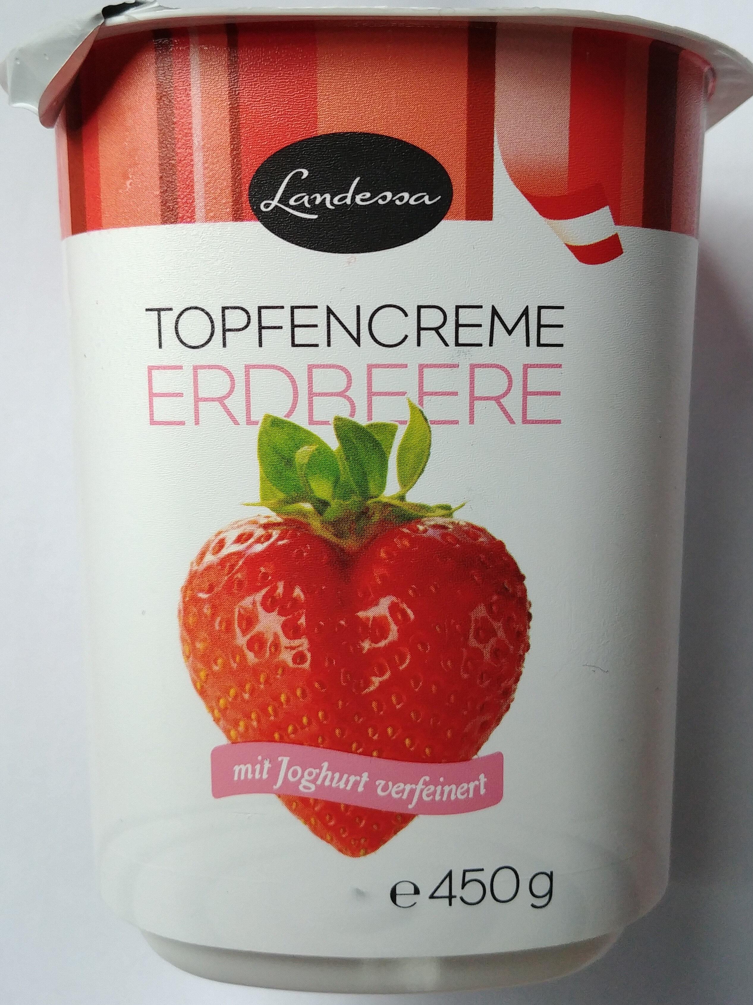 Topfen-Joghurt-Creme Erdbeere - Product