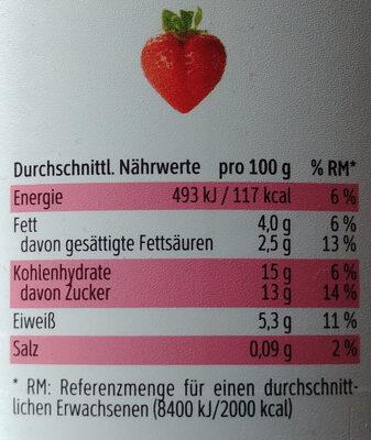 Topfen-Joghurt-Creme Erdbeere - Voedingswaarden