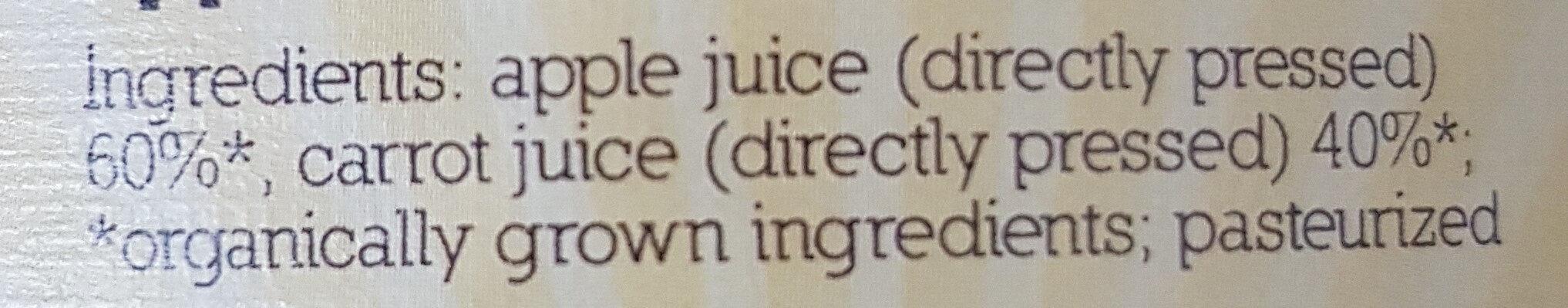 Bio Apfel- und Karottensaft naturtrüb - Ingredients - de