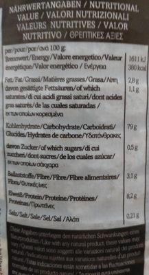 Bio Reiswaffeln, mit Meersalz - Nutrition facts - de