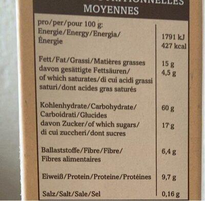 Verival Dinkel Crunchy Müsli Bio (375G Karton) - Nutrition facts - fr