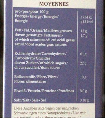 Bio-Moosber-Apfel Crunchy - Voedingswaarden - de