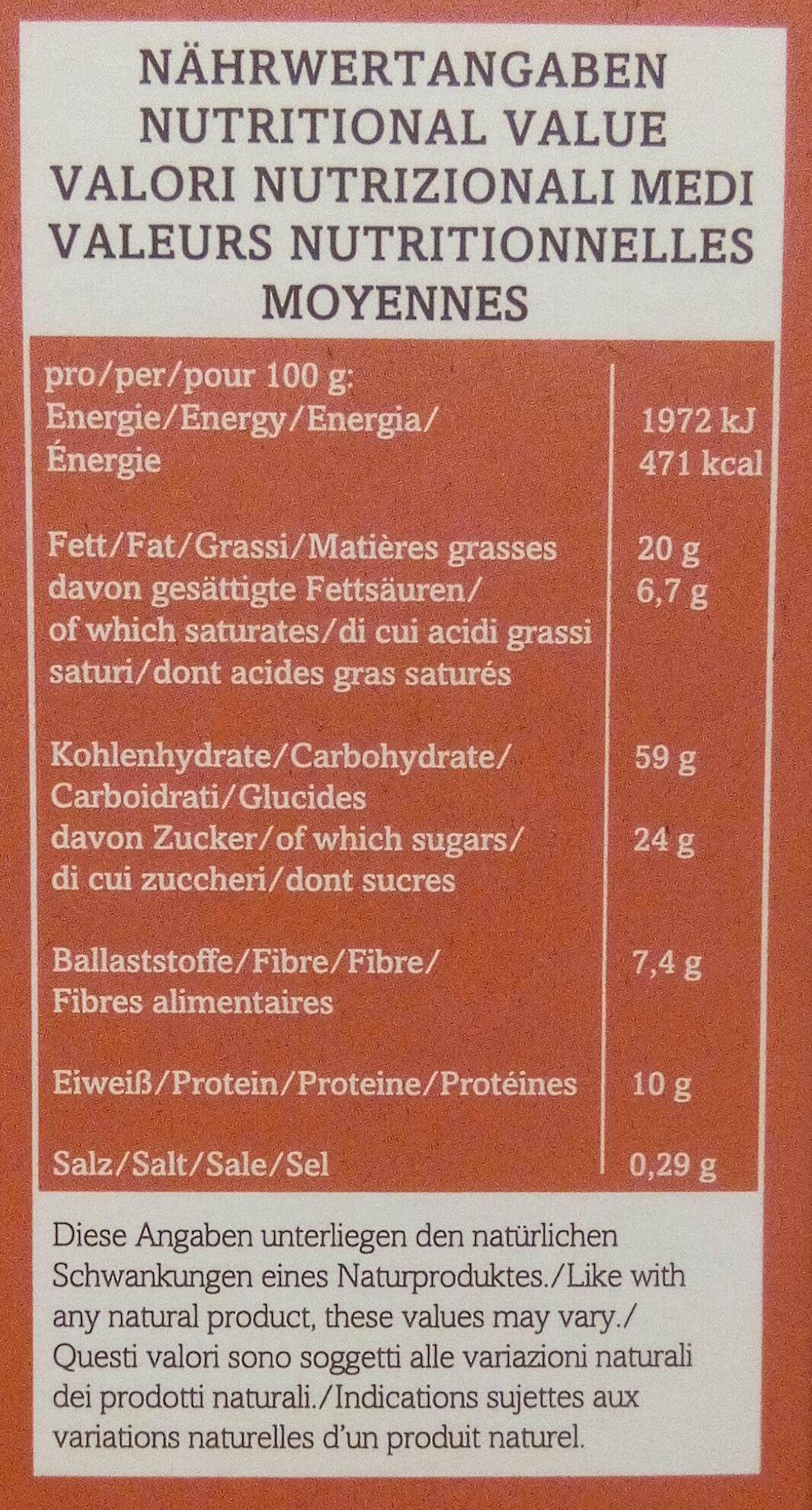 Crunchy Mix, Bio-frucht - Nutrition facts