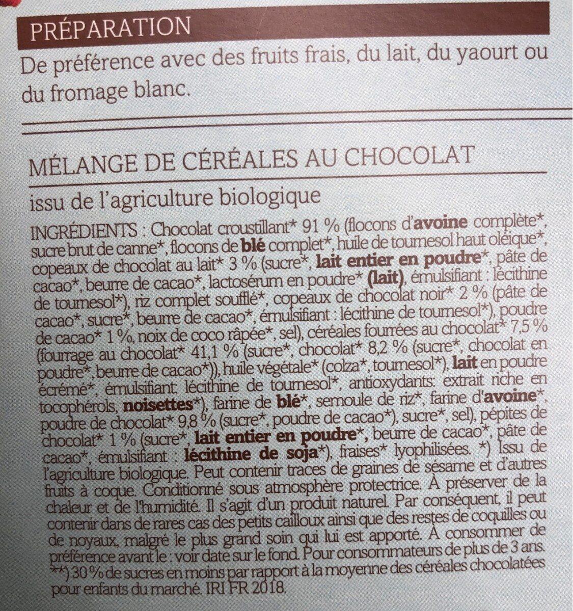 Céréales Bio Crousti'choco - Ingredients