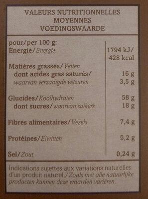 Céréales Bio Crousti'choco - Nutrition facts