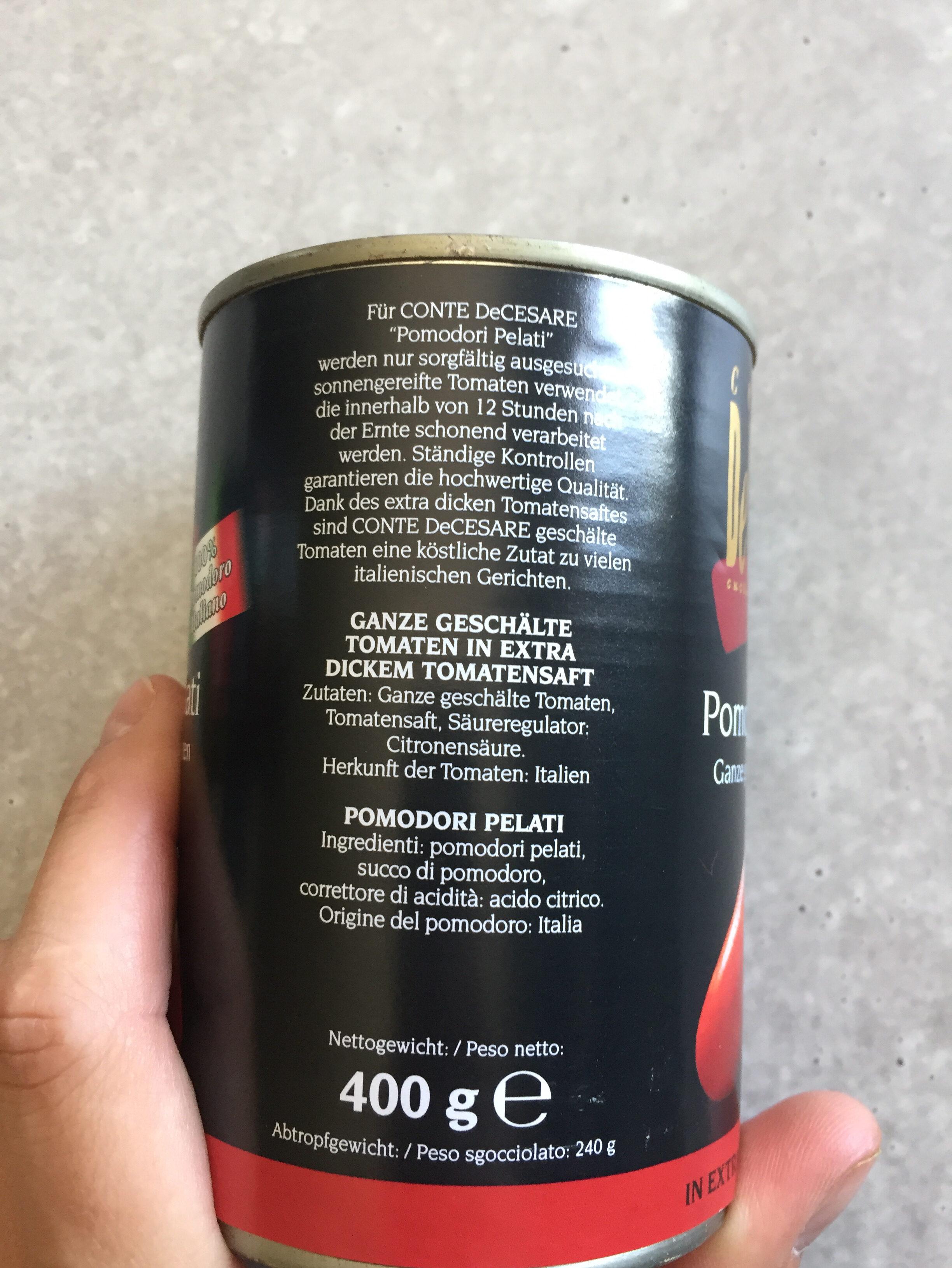 Ganze geschälte Tomaten - Ingrédients - de
