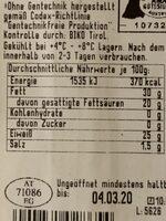 Edelziege - Nutrition facts - de