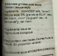 Organic Almonds japanese tamari - Ingredients