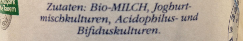 Bio Joghurt mild - Ingredients - de