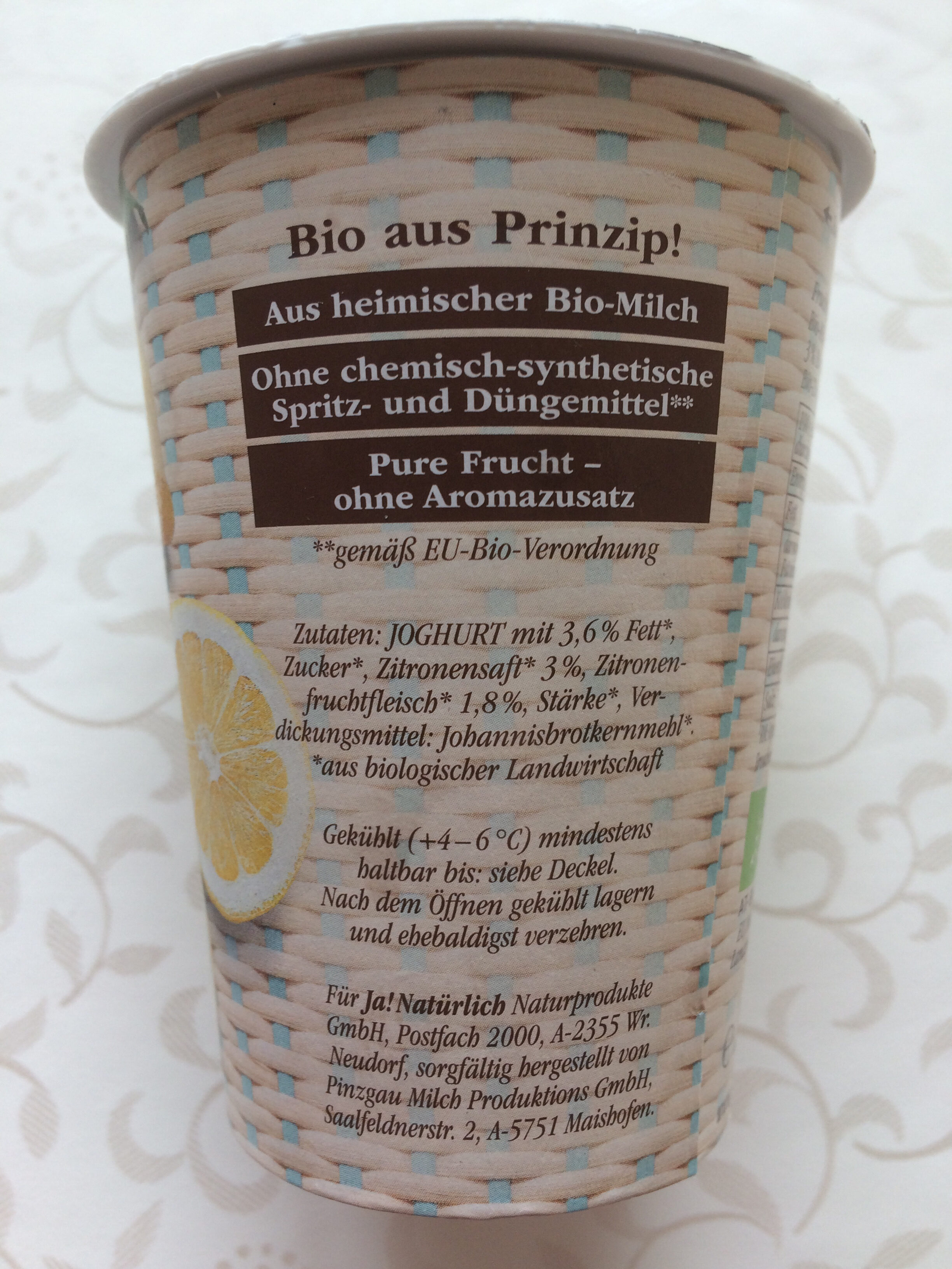 Sommerfrisch Bio-Zitrone - Ingredients - de