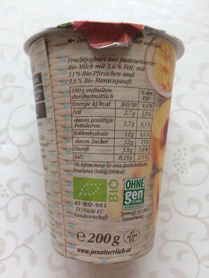 Sommerfrisch Bio-Pfirsich & Bio-Maracuja - Nutrition facts - de