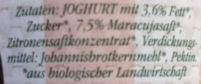 Sommerfrisch Bio-Maracuja - Ingredients - de