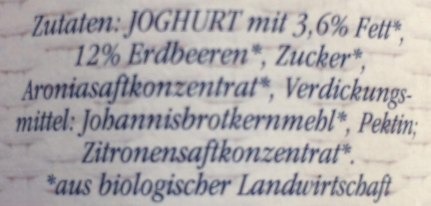 Bio Joghurt Erdbeere - Ingredients - de