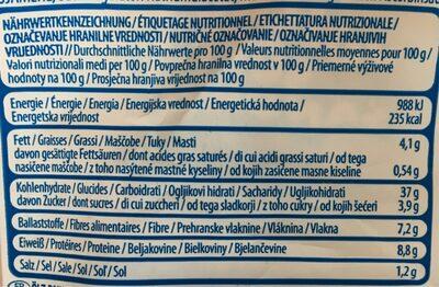 Pain de mie complet moelleux - Valori nutrizionali