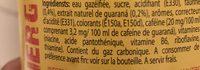Blle 1L Guaraná Energy Drink - Ingrediënten