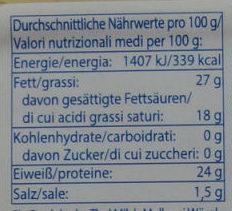 Bergbauern Tilsiter würzig-kräftig, aromatisch - Nutrition facts - de