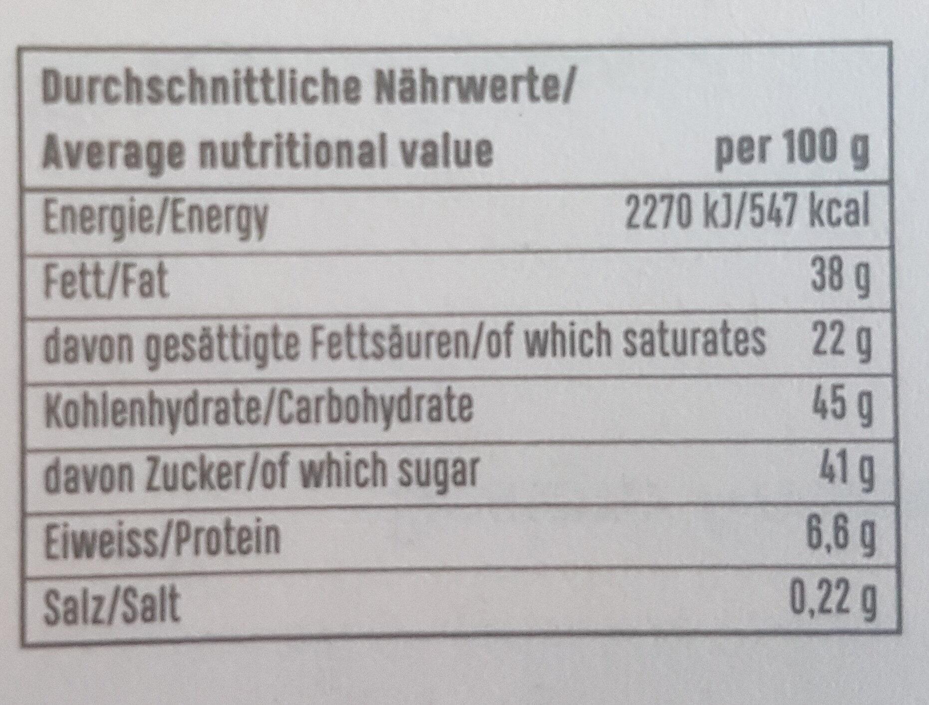 zotter Stress Stopper - Informations nutritionnelles - de