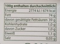 Streichgenuss - Nutrition facts