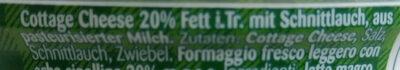 Landfrischkäse Schnittlauch - Ingrédients