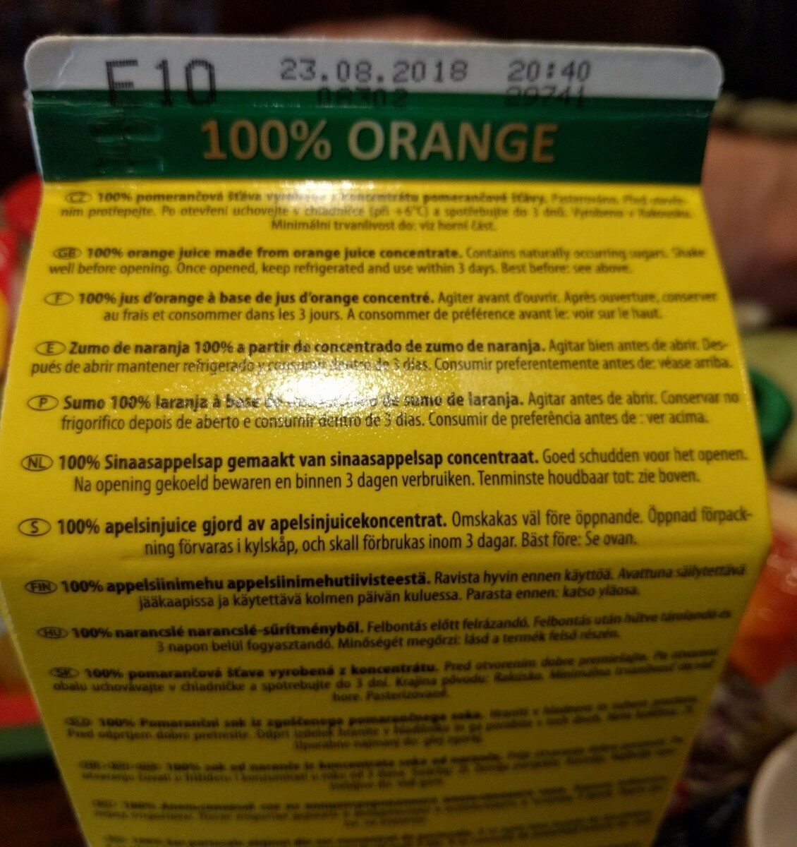 Jus d'orange - Zutaten - de