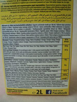 Orange nektar - Informations nutritionnelles - ro