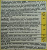 Băutură cu lămâie și limetă - Información nutricional