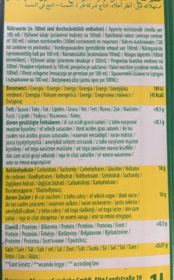 Pfanner Juice Apple Pomme - Informazioni nutrizionali