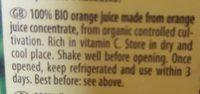 Pfanner Bio Orange 100% 1LTR - Ingredients