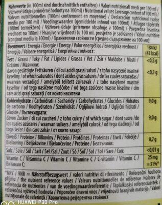 Pfanner Bio Orange 100% 1LTR - Nährwertangaben - fr
