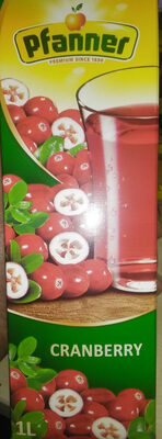 Cranberry Drink 30% 1l Elopak Pfanner - Produkt - en