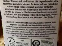 Der Weiße, Zitrone Holunderblüte - Ingredients - de
