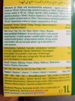 Ananas Und Kokos Getränk 25% 1 l Elopak Pfanner - Informação nutricional - fr