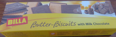 Billa Butter biscuits with Milk Chocolate - Produit - ro