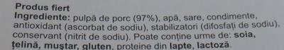 Billa Jambon - Ingredients - ro