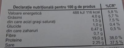 Billa Jambon - Nutrition facts - ro