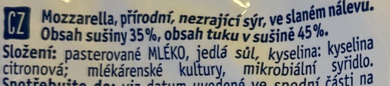 Mozarella - Ingredients - cs