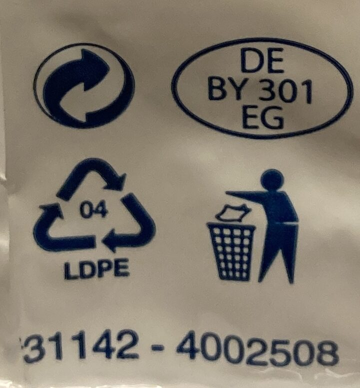 Mozarella - Recycling instructions and/or packaging information - cs