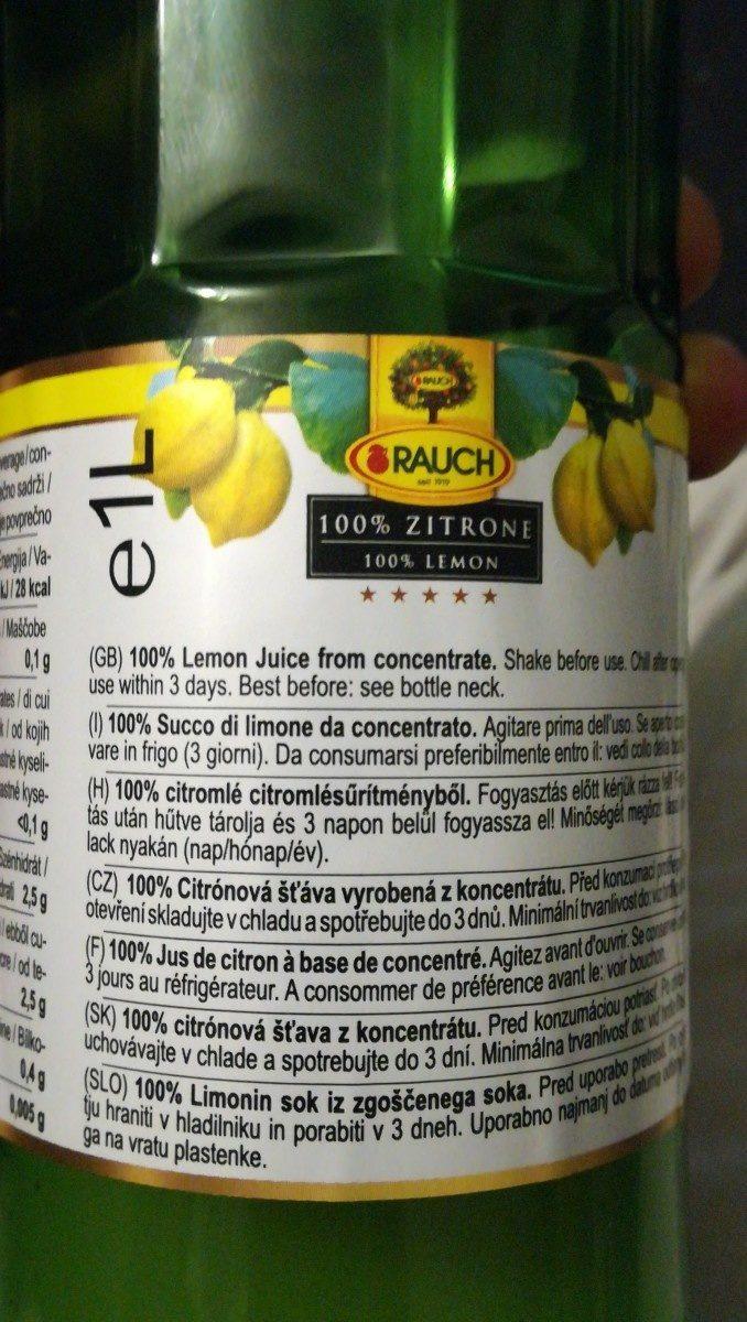 Zitronensaft - Zutaten - fr
